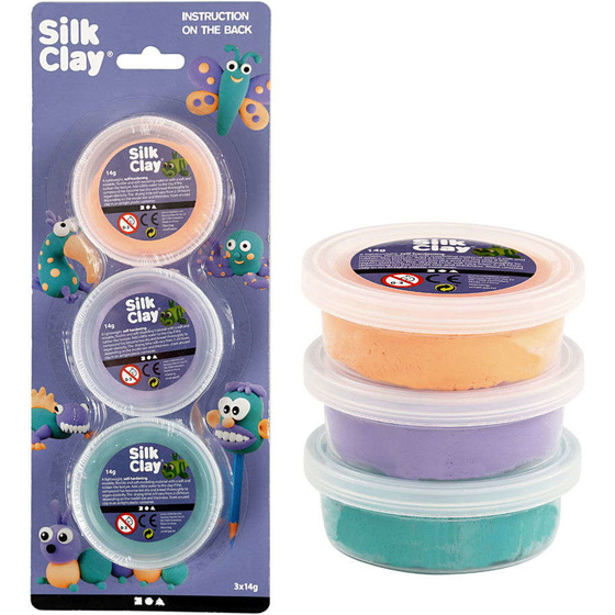 Silk Clay®, Grün, Lila, Neonorange
