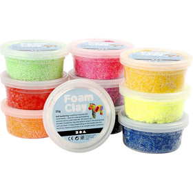 Foam Clay® - Sortiment, Sortierte Farben, Basic, 10x35g