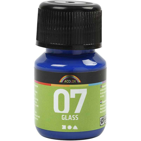 A-Color Glas, Brillantblau, 30ml