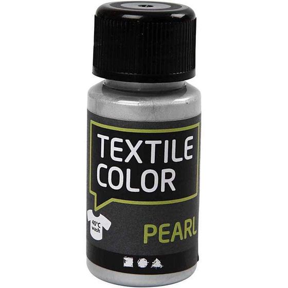 Textilfarbe, Silber, Perlmutt/Metallic-Effekt, 50ml