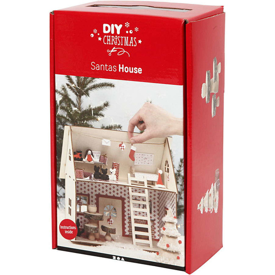 materialset weihnachtsmannhaus 1set  bastelshop