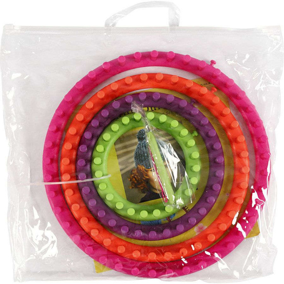 Strickring-Set, D: 12-17-22-27 cm, 1Set