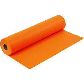Bastelfilz, B 45 cm,  1,5 mm, Orange, 5m, 180-200 g/qm
