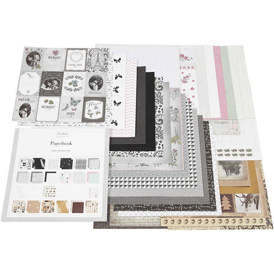 Block mit Design-Papier Blatt 30,5x30,5 cm 36Bl. 120+128 g