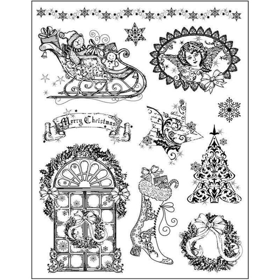 Knöpfe Weihnachtsmotive.Silikon Stempelmotive 14x18 Cm Weihnachtsmotive