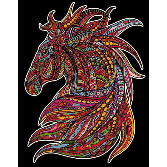 samtbild pferdekopf 47 x 35 cm zum kaufen und ausmalen