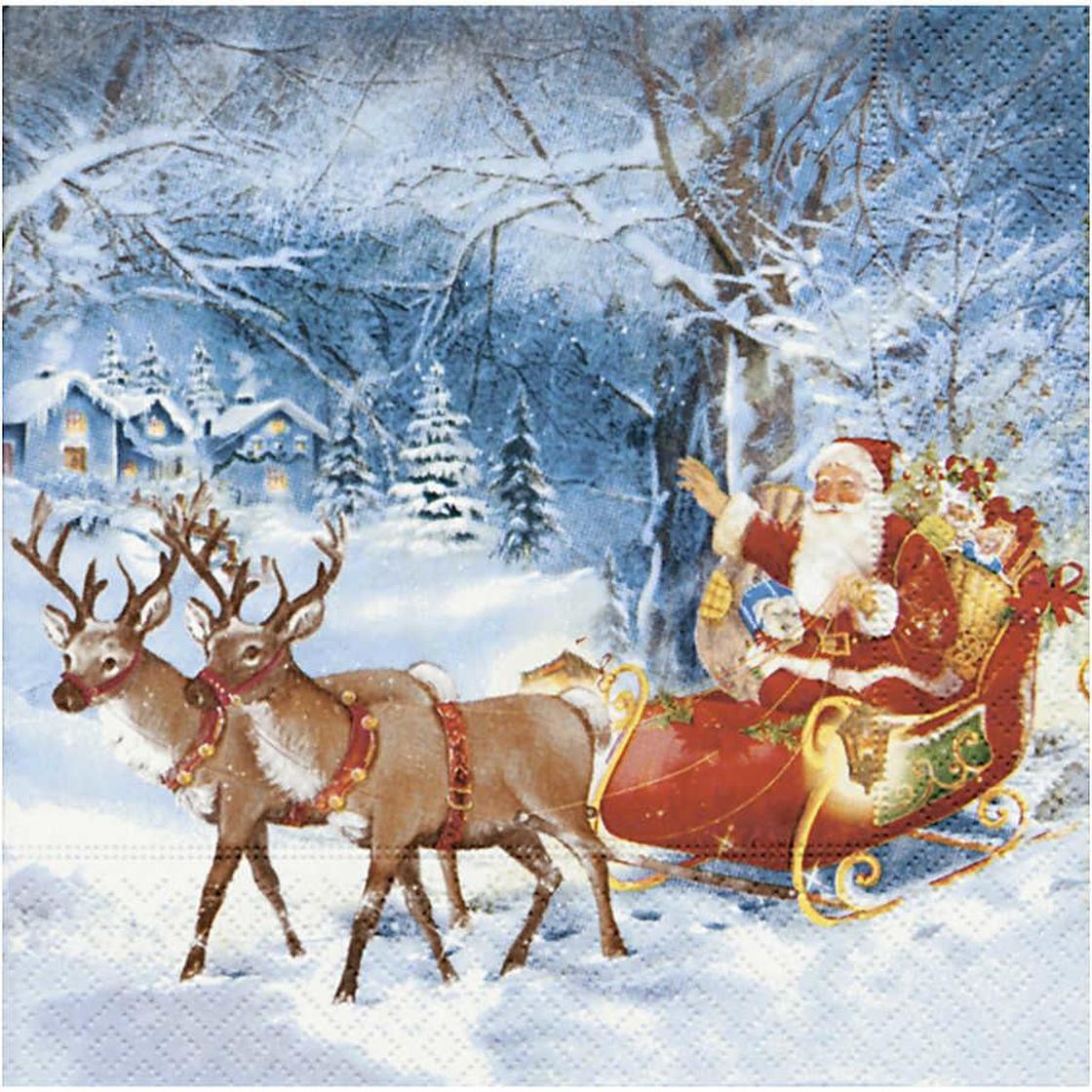 1 Weihnachtsmann im Schlitten Gießform Weihnachten